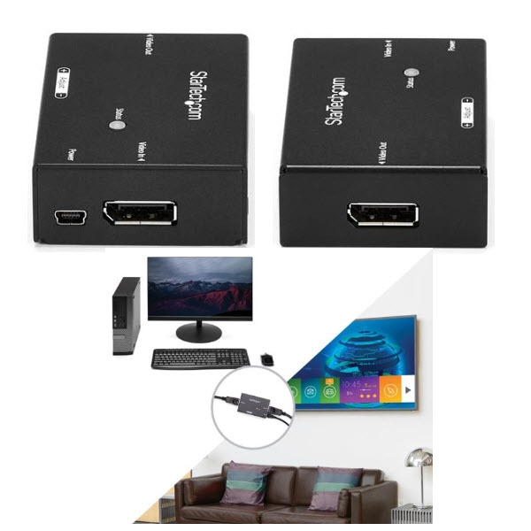 DisplayPort ブースター ディスプレイポート モニタ延長器 DPリピーター 4K(60Hz) DPBOOST