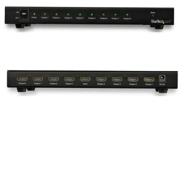 8出力対応 4K HDMIスプリッター HDMI分配器(1入力8出力) 60Hz対応 HDRサポート 7.1chサラウンドサウンド対応 ST128HD20