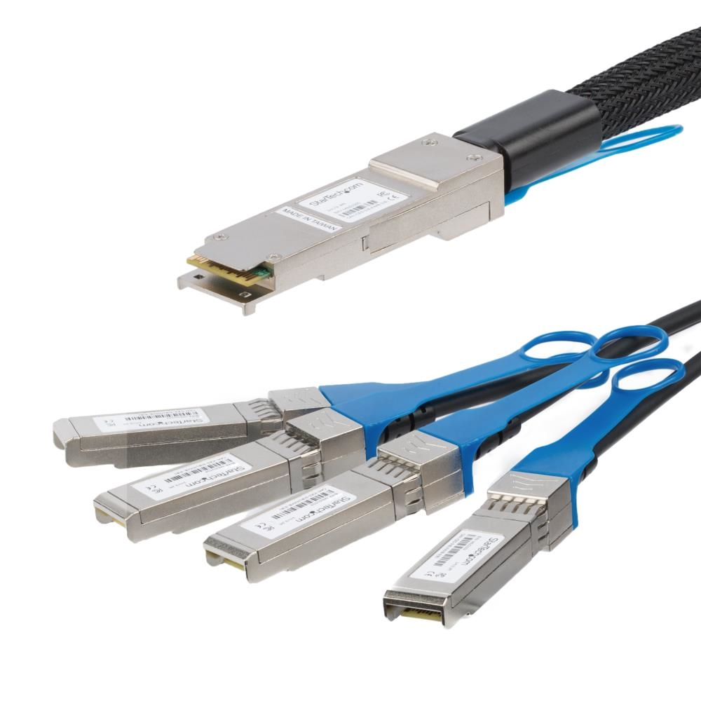 QSFP+ DAC Twinax ブレークアウトケーブル 2m MSA準拠 40GbE QSFP4SFPPC2M