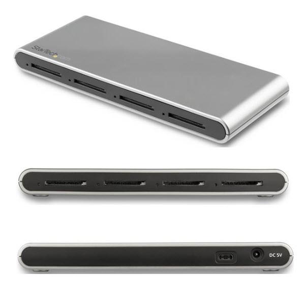 Type-C接続 / 4スロット搭載 UHS-II準拠 SDカード 4SD4FCRU31C - SDカードリーダー USB USB-C 3.1(10Gbps) USB アダプタ 4.0 SD