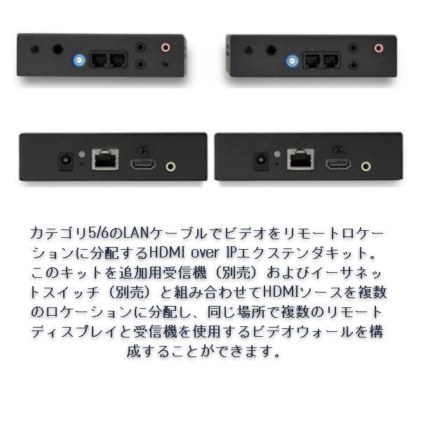 IP対応HDMIエクステンダー 送受信機セット ビデオウォールシステム対応 1080p解像度 HDMI LAN 変換延長器 ST12MHDLAN2K