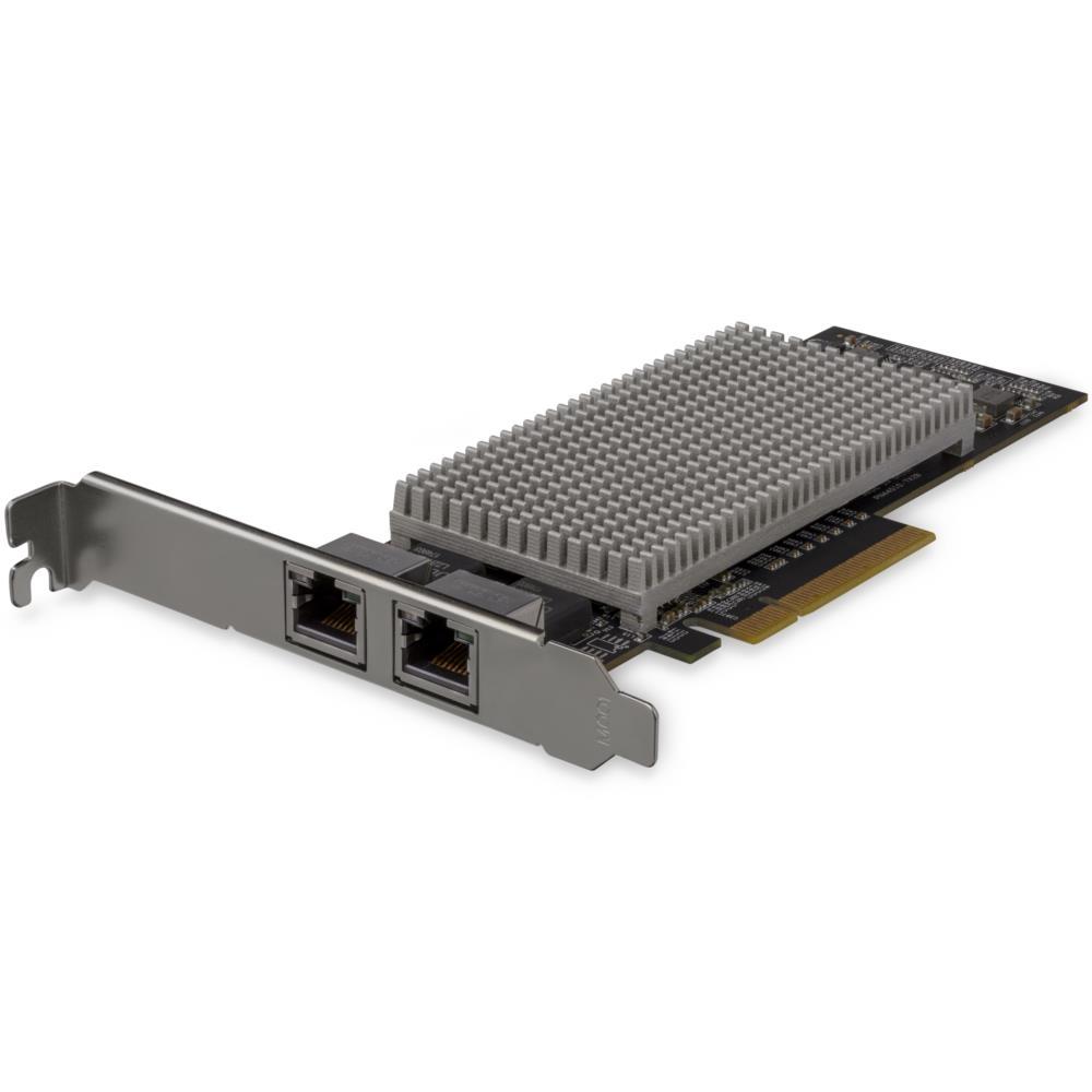 10GbE対応デュアルポート増設PCI ExpressイーサネットLANカード 10GBASE-T&NBASE-T対応 10G/5G/2.5G/1G/100Mbps対応NICカード ST10GSPEXNDP