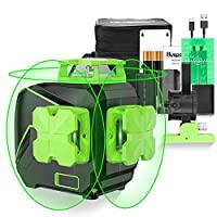 : Huepar 即納Huepar フルライン レーザー墨出し器 グリーン 緑色 レーザー 3電源方式 クロスライン 在庫一掃 フルライン照射モデル 大規模セール 3x360° 大矩 受光器対応 Type-C充電可能