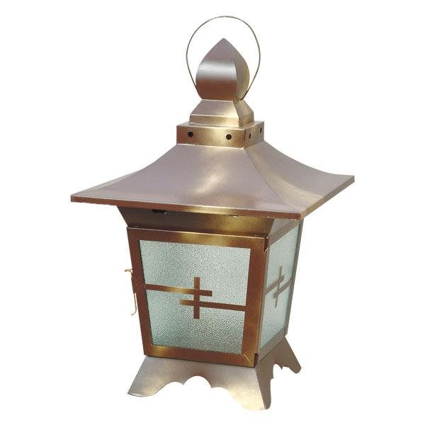 【送料込】 ブリキ製盆燈籠 大 玉木