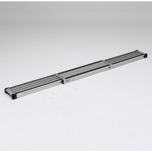 【メーカー直送】 滑り止め付伸縮式足場板2.1m VSSR210H アルインコ
