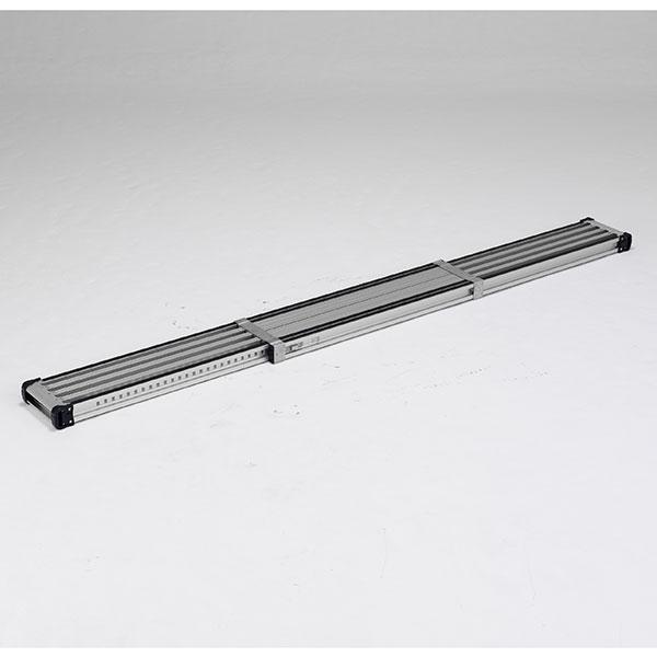 【メーカー直送】 滑り止め付伸縮式足場板3.3m VSSR330H アルインコ