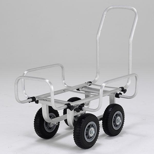 【メーカー直送】 伸縮ハウスカー8インチノーパンクタイヤ SKK058PS アルインコ