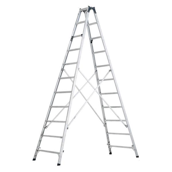 【メーカー直送】 ステップ幅広専用脚立3.6m MXB360F アルインコ