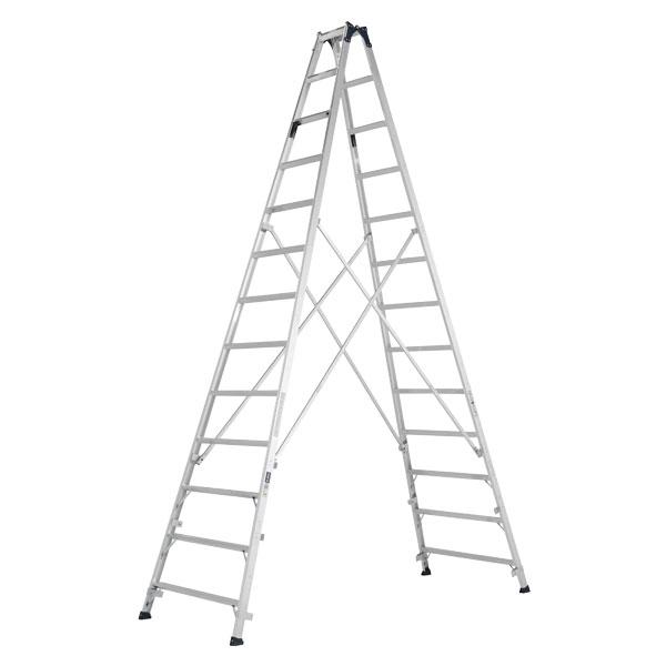 【メーカー直送】 ステップ幅広専用脚立3.9m MXB390F アルインコ