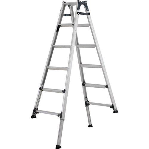 【メーカー直送】 ステップ幅広伸縮脚付はしご兼用脚立210cm PRW210FX アルインコ