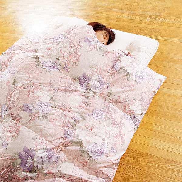 羽毛布団 シルヴィア 150×210 ピンク
