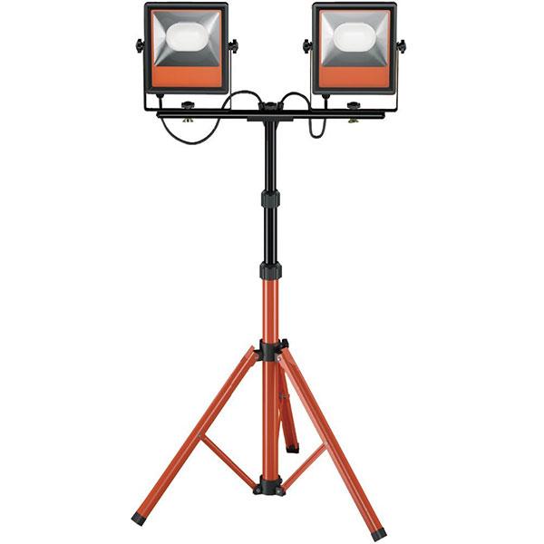 【送料込み】 LED 投光器 作業灯 三脚付きスタンドライト 防雨型 屋内・屋外兼用 100W 10000lm アイリスオーヤマ