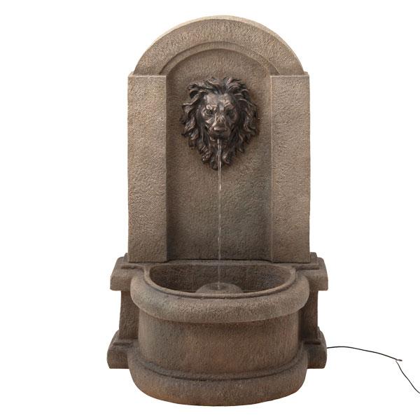 【メーカー直送】 ソーラーファウンテン ライオンマスク タカショー ガーデン 庭 屋外 水 噴水