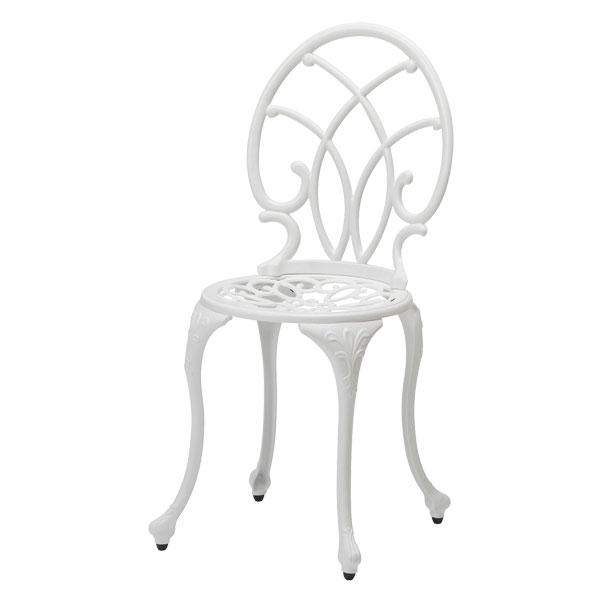 【メーカー直送】 ティエラ チェアー ホワイト タカショー ガーデンチェア ガーデンファニチャー 庭 椅子 エクステリア 屋外