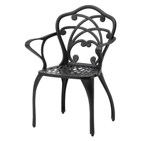 【メーカー直送】 リーズ シングルチェアー ブラック タカショー ガーデンチェア ガーデンファニチャー 庭 椅子 エクステリア 屋外