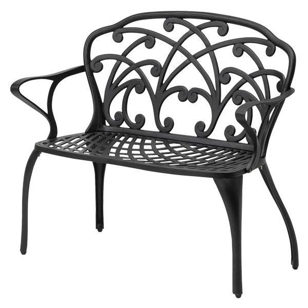 【メーカー直送】 リーズ ラブチェアー ブラック タカショー ガーデンファニチャー 庭 椅子 屋外