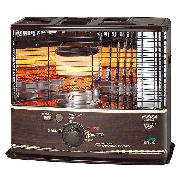 【送料込み】 TOYOTOMI 石油ストーブ RC-W320(M) ダブルクリーン 「コンクリート12畳/木造9畳」 日本製 木目 暖房器具