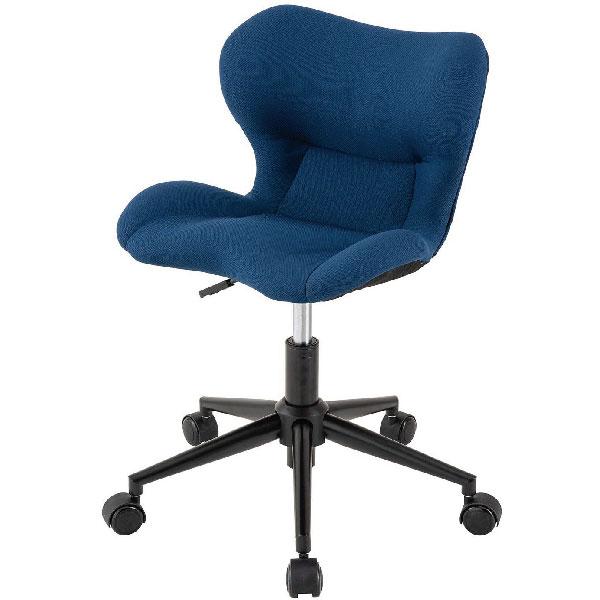 座った姿勢がきれいに保てるチェア 送料込 ドウシシャ DOSHISHA スリムフィットチェア BL 売買 代引き不可 超安い ブルー SFC-BL
