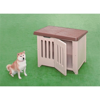 【送料込】 ボブハウス950950 ブラウン /ベージュ 犬小屋 犬舎 ドッグハウス