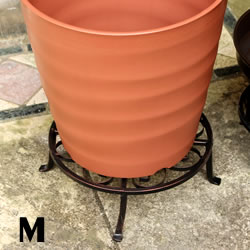 鉢置き 花台 鉢スタンド フラワースタンド 蔵 商舗 虫除け 鉢下 脚付き 鉢敷 アイアンプレート Mサイズ 鉢台 AFS16-M25