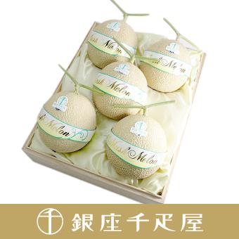 [ギフト] 銀座千疋屋特選 マスクメロン 1個入 [約1.4kg〜] [内祝い] No29 [お中元] (桐箱)