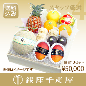 [ギフト] [内祝い] 【送料込み】 銀座千疋屋特選 【感謝の気持ち】 季節の果物詰合