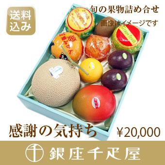 銀座千疋屋特選 [ギフト] 【感謝の気持ち】 [内祝い] [送料込み] 季節の果物詰合せ