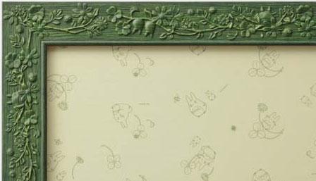 【ジブリ専用フレーム】【10】葉っぱ(緑)(完成サイズ:50×75cm)
