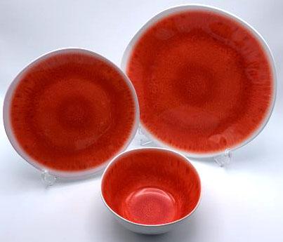 【PON1105TDSCR】ダイニングセット 12点(コーラル) プレート セット 皿セット お皿 セット メラミン食器 割れにくい食器 サラダボウル 食洗機対応 まとめ買い 業務用 シンプル おしゃれ モダン ツートンカラー 2色