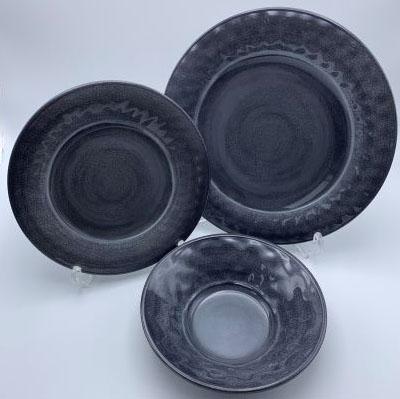 【PVLDSCPNGG】ダイニングセット 12点(グレー) プレート セット 皿セット お皿 セット メラミン食器 割れにくい食器 サラダボウル 食洗機対応 まとめ買い 業務用 シンプル おしゃれ モダン