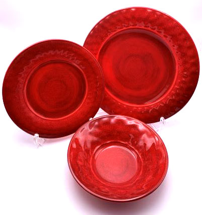 【PVLDSCCCRR】ダイニングセット 12点(レッド) プレート セット 皿セット お皿 セット メラミン食器 割れにくい食器 サラダボウル 食洗機対応 まとめ買い 業務用 シンプル おしゃれ モダン