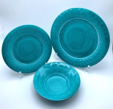 【PVL1105DSBTS】ダイニングセット 12点(グリーン) プレート セット 皿セット お皿 セット メラミン食器 割れにくい食器 サラダボウル 食洗機対応 まとめ買い 業務用 シンプル おしゃれ モダン