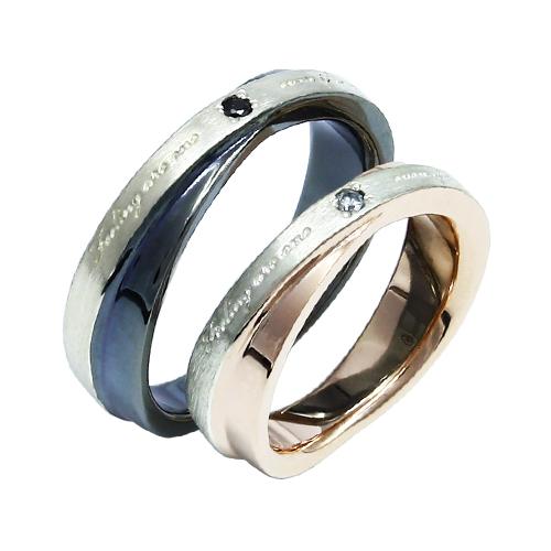選べるサイズ  ダイヤモンド使用 結婚指輪にもおすすめ おしゃれ 指輪 リング かわいい シルバーリング ペアリング ダイヤモンド クロス お揃い ピンク ブラック 黒 可愛い バレンタイン シルバー925 メンズ レディース 19juuku ハートオブコンセプト