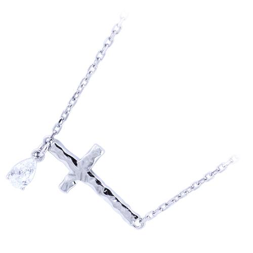 『送料無料』 おしゃれ なネックレス ペンダント シルバーネックレス ペアネックレス クロス 十字架 ジルコニア シルバー かっこいい おしゃれ シンプル 華奢 シルバー925 メンズ レディース 19juuku ハートオブコンセプト