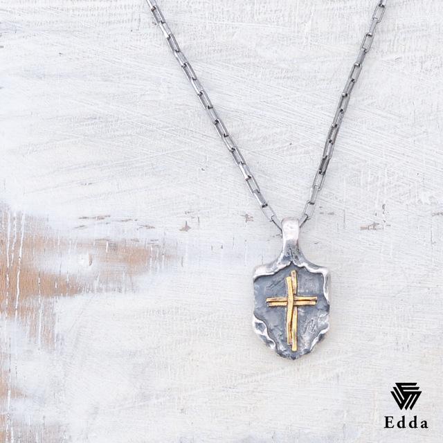送料無料 ポイントUP中 シルバーネックレス ペアネックレス ネックレス ピンク クロス 十字架 チェーンネックレス メンズ レディース バレンタイン ホワイトデー シルバー925 juuku Edda エッダ