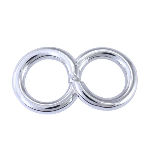 両耳セット 【送料無料】 2個セット サークルピアス 2つを合わせると∞の形になります シルバーピアス ピアス サークル シルバー 華奢  プレゼント シルバー925 メンズ レディース ハートオブコンセプト