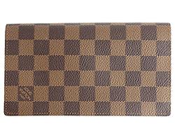 Louis Vuitton wallets LOUIS VUITTON N63022 Damier portofoyyukolumbus two-fold long wallet