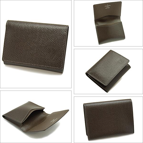 M30928 the Louis Vuitton card case LOUIS VUITTON Taiga leather business card holder-cult de visite mens business card put the Grizzly