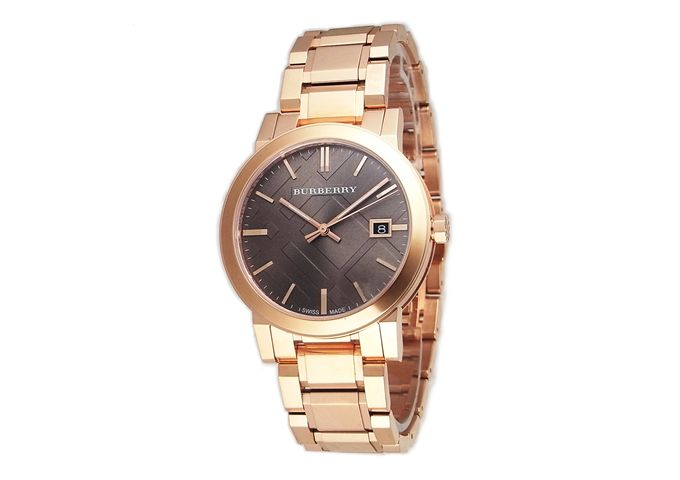 Burberry watches men's BURBERRY BU905 city clock / watch brown