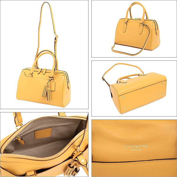 Coach bags COACH outlet 24,622 b4mshit legacy leather Harry satchel with strap shoulder bag silver / light grey / grey