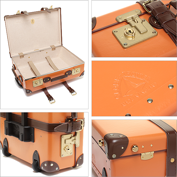GlobeTrotter suitcases 21-inch GLOBE TROTTER GTCNTOT21TC CENTENARY centenary TROLLY 2 wheels carry case ORANGE/TAN