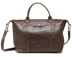 Longchamp bags LONGCHAMP 1515 737 015 LE PLIAGE CUIR shoulder bag TAUPE