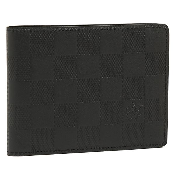 ルイヴィトン 財布 LOUIS VUITTON N63124 ダミエアンフィニ ポルトフォイユ・ミュルティプル 2つ折り財布 オニキス
