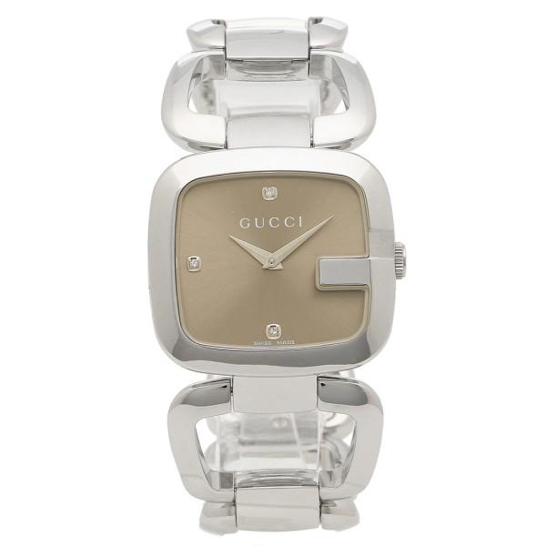 グッチ 時計 レディース GUCCI YA125401 Gグッチ 腕時計 ウォッチ ブラウン/シルバー