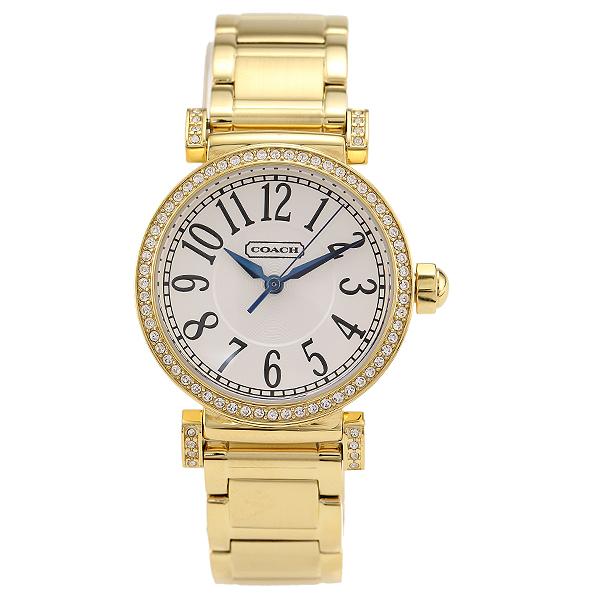 COACH コーチ 時計 レディース 14501724 NEW MADISON ニュー マディソン 腕時計 ウォッチ イエローゴールド