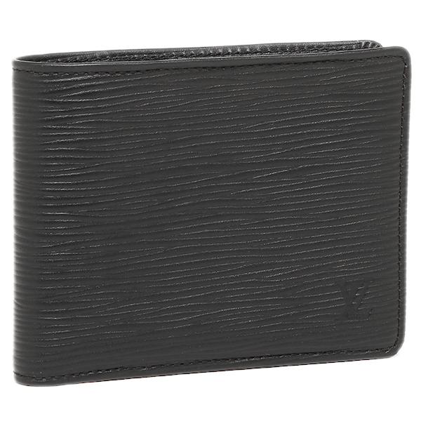 ルイヴィトン 財布 LOUIS VUITTON M60662 エピレザー ポルトフォイユ・ミュルティプル 2つ折り財布 ノワール