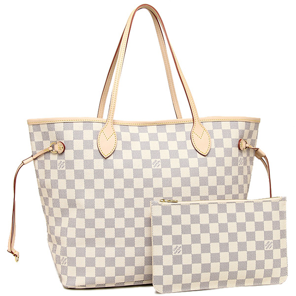 Louis Vuitton Bag N41361 Damier Azur Neverfull Mm Tote
