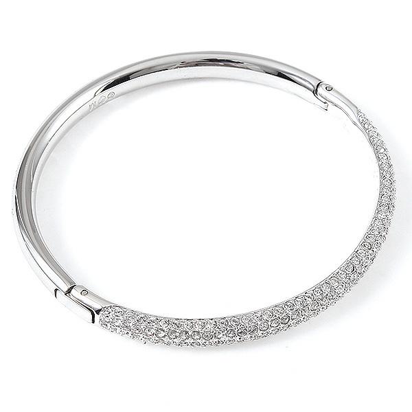 Swarovski Bracelet Las 5032846 Stone Mini Crystal Bangle Silver Clear