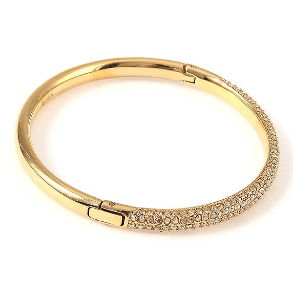 Swarovski Bracelet Las 5032848 Stone Mini Crystal Bangle Gold Clear