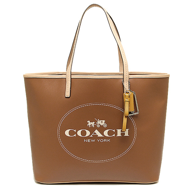 Coach bags outlet COACH F31315 SV/SD Park Metro horse & carriage tote bag sand